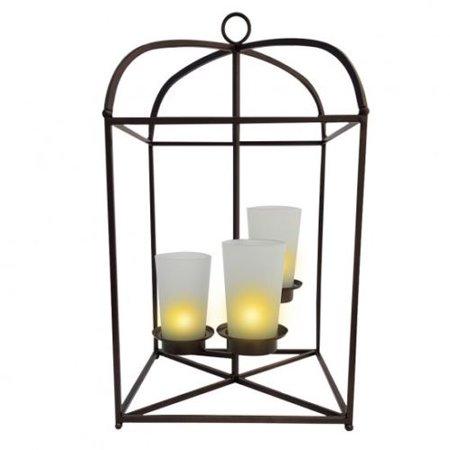 PartyLite Bronze Framework 3-Candle Lantern