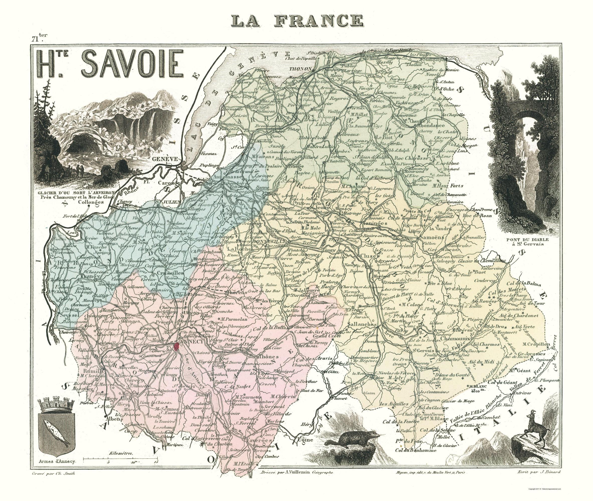 Migeon 1869-23 x 27.20 Haute Savoie Department France