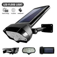 Solar LED Wall Light Spotlight PIR Motion Sensor Waterproof Outdoor Garden Lamp IClover