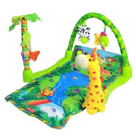 baby gift rainforest musical gym lullaby baby activity mat. Black Bedroom Furniture Sets. Home Design Ideas