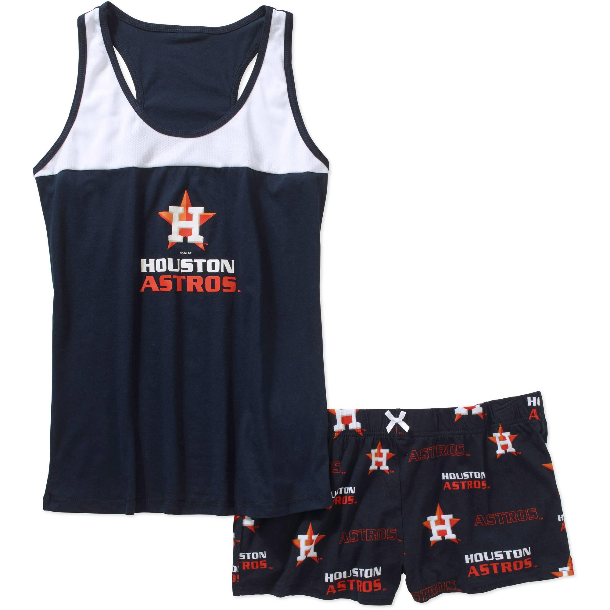 MLB Women's Houston Astros Tank Top and Shorts Set