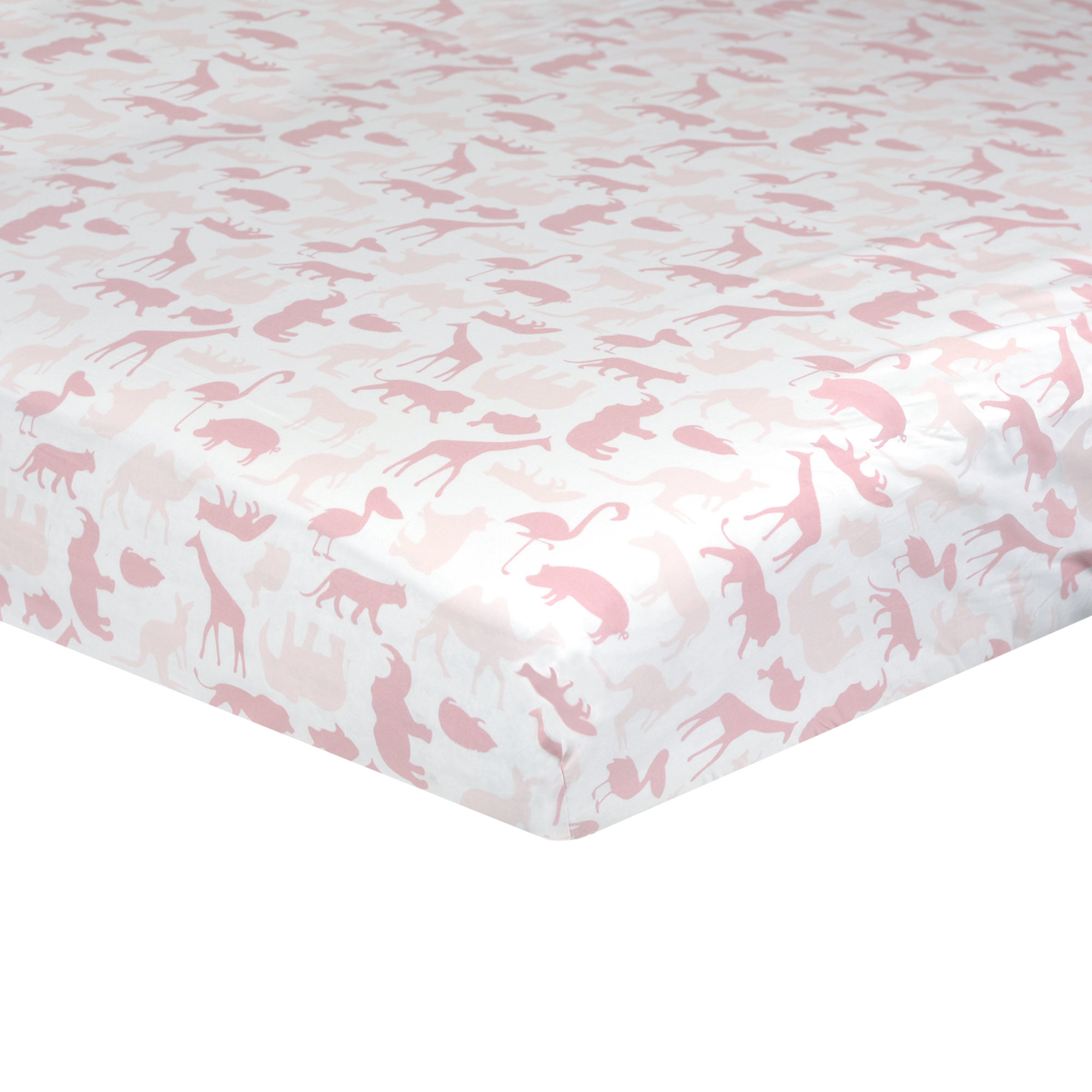 Just Born Dream Fitted Crib Sheet, Pink Jungle