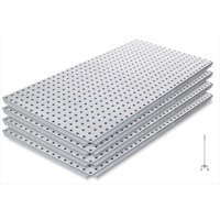 Alligator Board ALGBRD16X32GALVKIT Metal Pegboard Panel Kit with Frange/10 Hooks/Gloves - Pack of 4