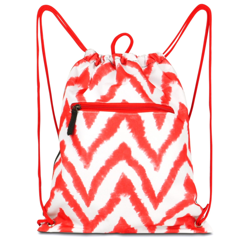 Zodaca Lightweight Sling Drawstring Bag Foldable Backpack Sports Gym Fitness