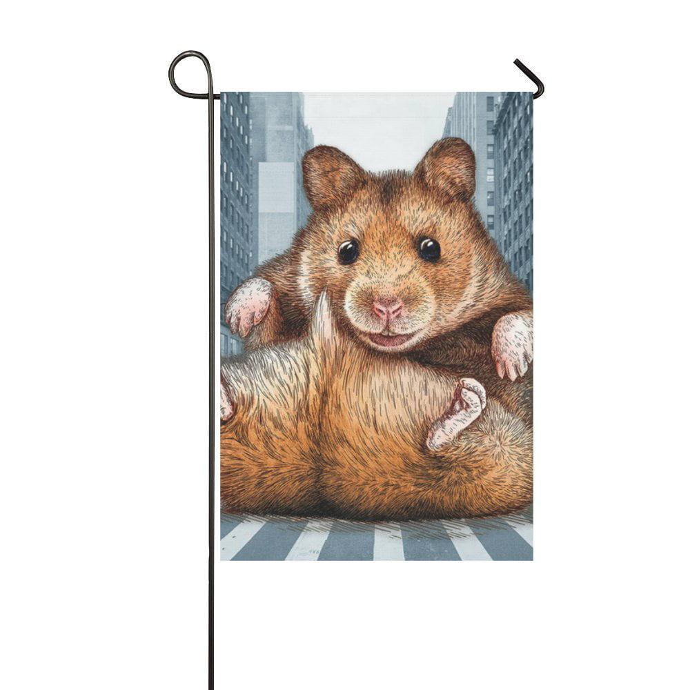 MYPOP Animal Marmot in City Garden Flag 12x18 inches by MYPOP