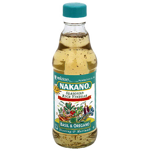 (6 Pack) Nakano Basil & Oregano Seasoned Rice Vinegar, 12 fl oz