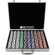 Trademark Poker 1000 11.5 Gram Holdem Poker Chip Set with Aluminum Case by TRADEMARK GAMES INC