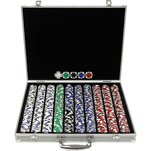 Trademark Poker 1000 11.5 Gram Holdem Poker Chip Set with Aluminum Case