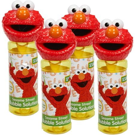 Little Kids Sesame Street 4-Piece Bubble Heads with Wand, - Funny Bobble Head