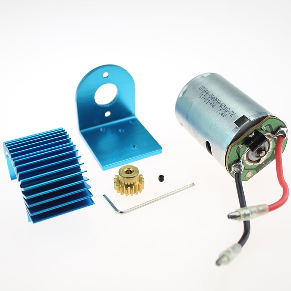 Motor /& Heat Sink /& Motor Mount Kit for WLtoys 12428//12423//12428-A//B//C Parts