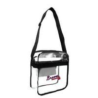 Little Earth - MLB Clear Carryall Cross Body Bag, Atlanta Braves