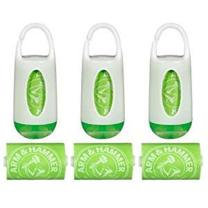 Munchkin Arm & Hammer Diaper Bag Dispensers and Bags, Set of 3, Green