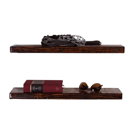 DAKODA LOVE Rugged Distressed Floating Shelves 24