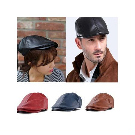 Leather Ivy gentleman Mens Golf Caps Bonnet Newsboy Beret Cabbie Gatsby Flat Golf Hat - Gatsby Clothing For Men