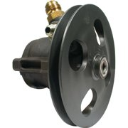 Allstar Performance ALL48250 Power Steering Pump with Pulley Steel, Clear Anodized