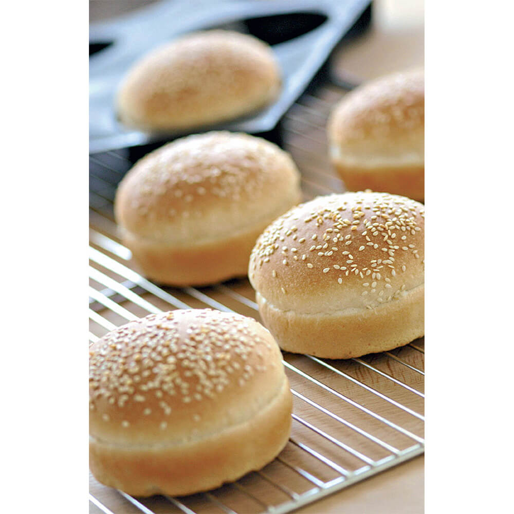 Matfer Bourgeat Silicone Silform Hamburger Bun Mold, Gray...