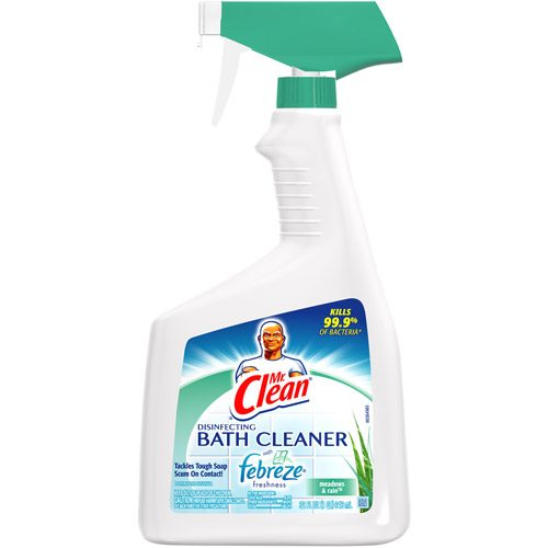 Charmant Mr. Clean Disinfecting Bath Cleaner With Febreze Fresh Meadows And Rain  Scent, 32 Fl