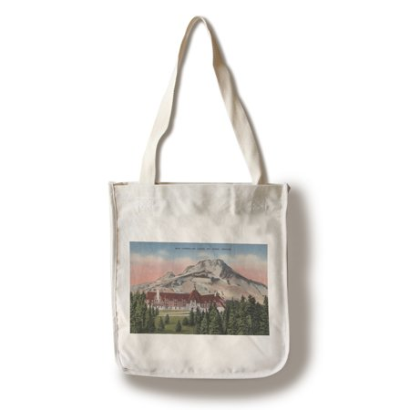 Mount Hood, Oregon - View of the New Timberline Lodge #2 (100% Cotton Tote Bag - Reusable) (Mount Hood Timberline)