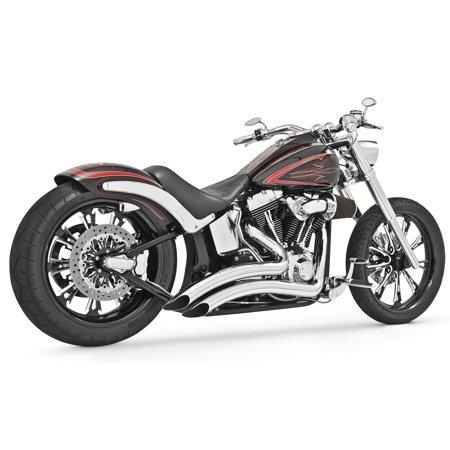 Freedom Performance Sharp Radius Exhaust Chrome Fits 99 09 Harley Davidson FXSTB Softail Night Train