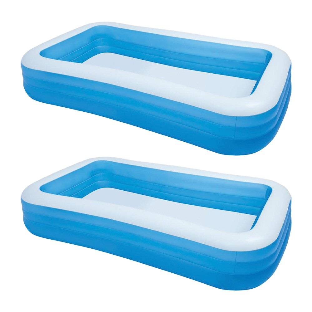 "Intex Swim Center 72"" x 120"" Family Backyard Inflatable Swimming Pool (2 Pack)"