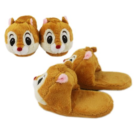 Disney's Dale Light Brown Comfy Plush House Slippers](Disney Slippers)