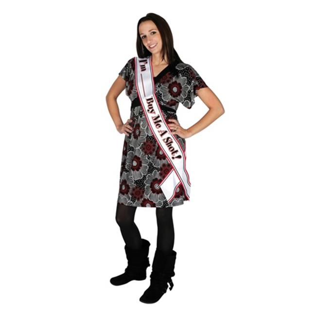 Beistle 60552 Im Blank Buy Me A Shot Satin Sash - Pack of 6