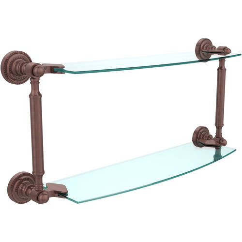 """Dottingham Collection 18"""" 2-Tiered Glass Shelf (Build to Order)"""