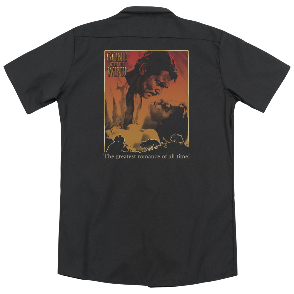 Gone With The Wind Greatest Romance (Back Print) Mens Work Shirt
