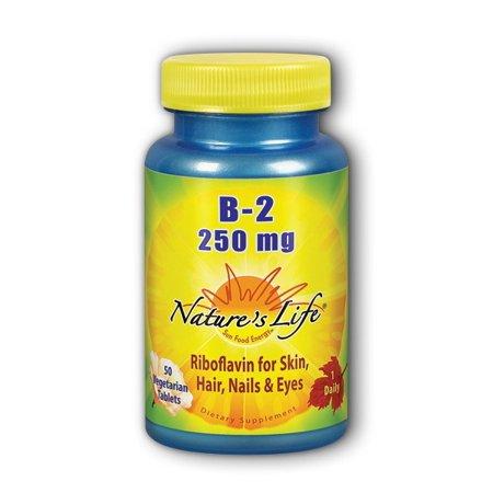 Vitamin B-2 250mg - Vegetarian, Yeast-Free Nature's Life 50 Tabs