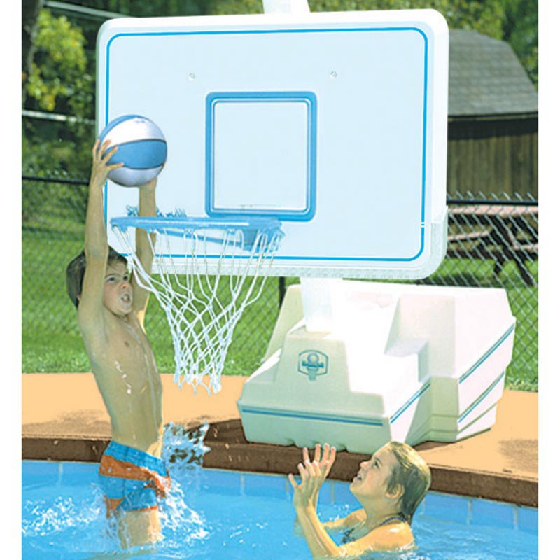 Dunn Rite Splash & Slam Port Regulation-Size Pool Basketball Hoop Set