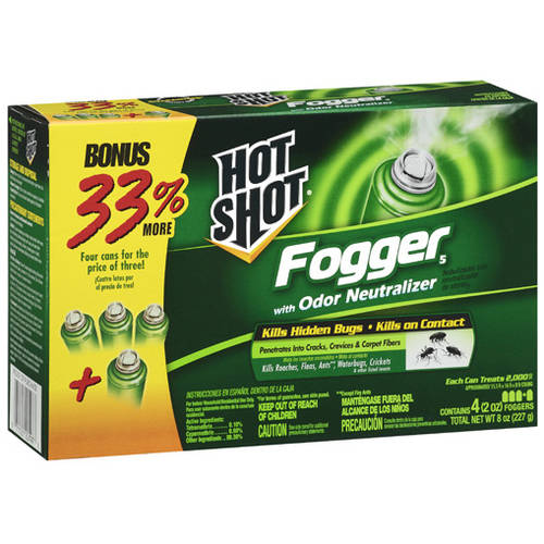 Hot Shot Fogger 5 with Odor Neutralizer, 2 oz, 4 count
