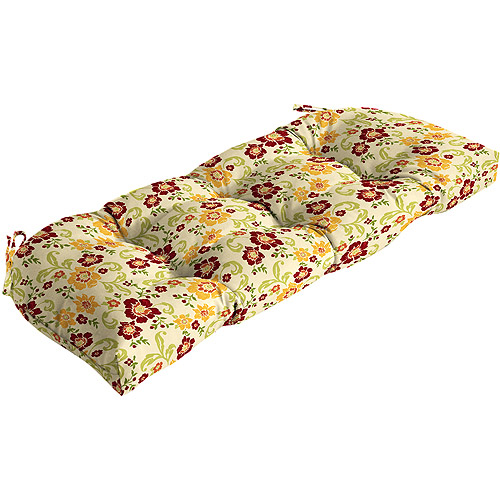 Better Homes and Gardens Citrus Blossoms Wicker Settee Cushion