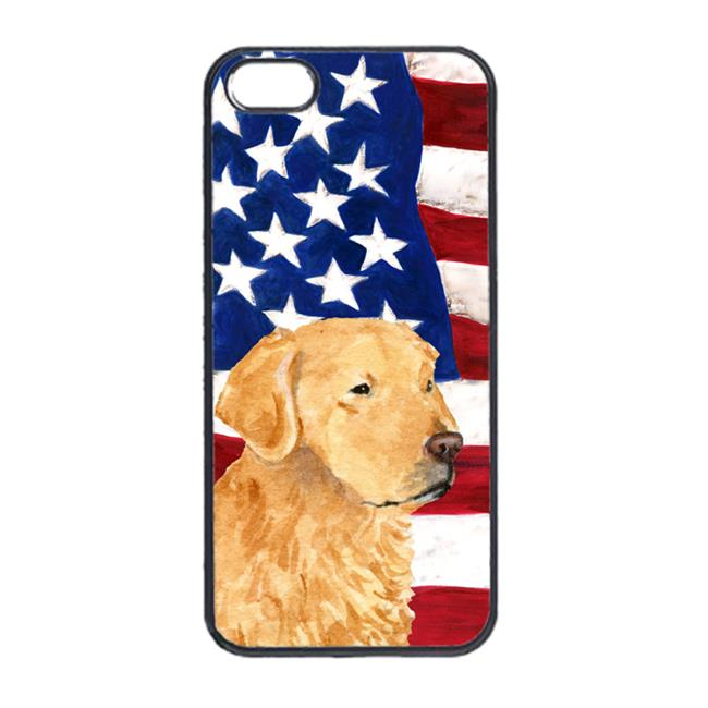 Carolines Treasures SS4055IP5 USA American Flag With Golden Retriever Iphone 5 Cover - image 1 of 1