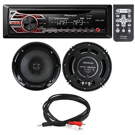Rca Car Speakers (Pioneer DEH-150MP Single DIN Car Stereo With MP3 Playback+ Kenwood KFC-1665S 6.5