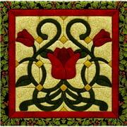 "Christmas Tulip Quilt Magic Kit-12""X12"""