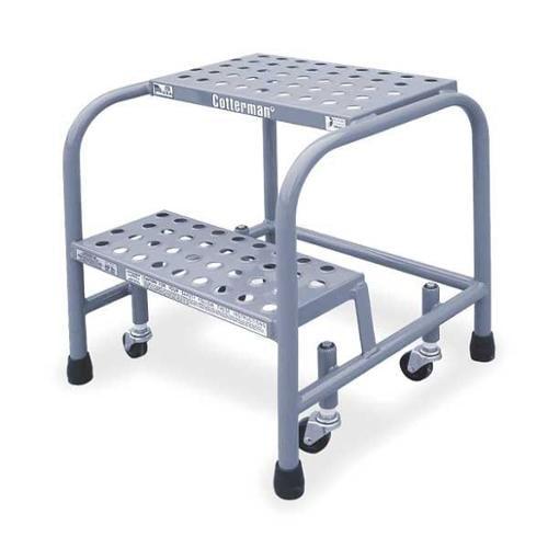 "Cotterman 20"" H Aluminum Rolling Ladder, 350 lb. Load Capacity, A2N2626A3B3C50P1 by COTTERMAN"