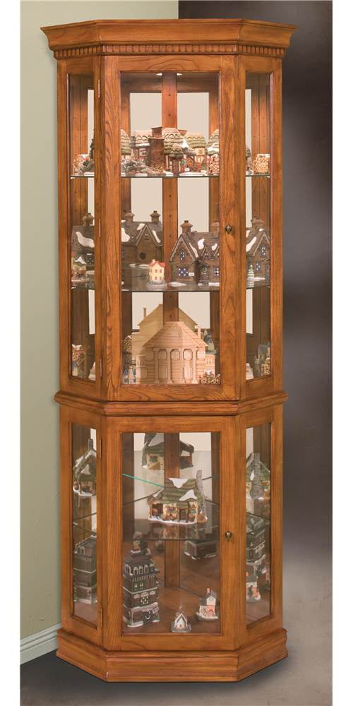 Philip Reinisch Lighthouse Classic - Oak Corner Curio Cabinet ...
