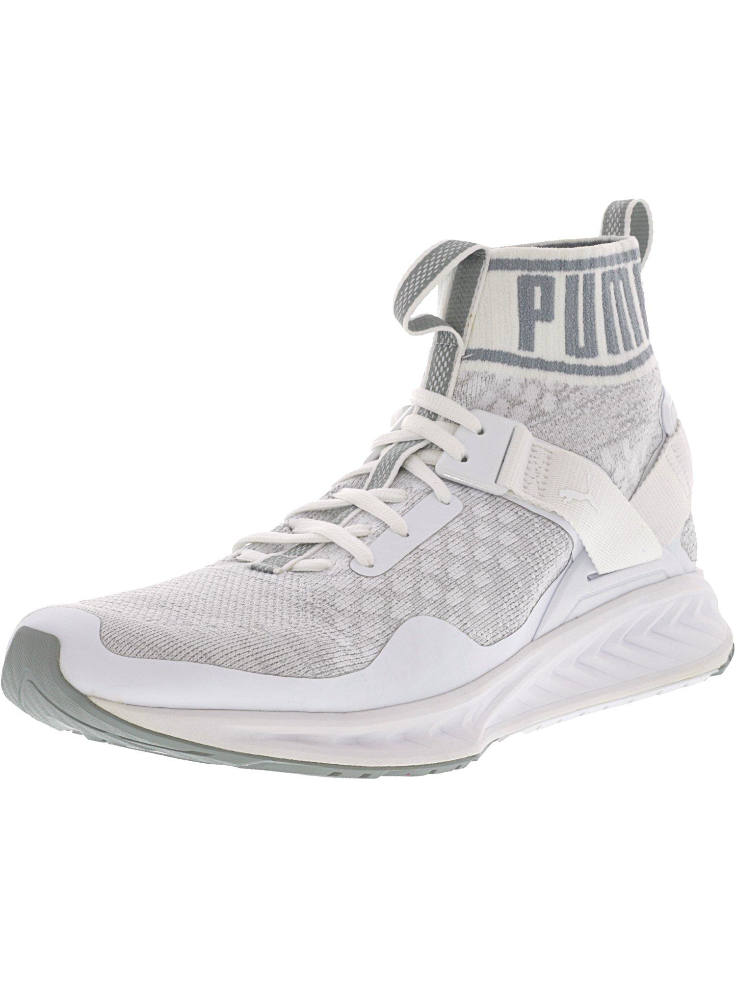 puma evoknit hommes noirs / gris blanc blanc gris s'enflamme la cheville formation chaussures - 8m de haut cac3a2