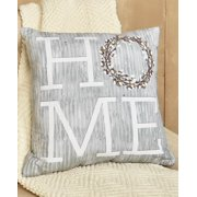 "Cotton Boll Accent Pillows Choice of Set of 3 Pillows, Blessed Pillow, Home Pillow, or Love Pillow (Home 17"" Pillow)"