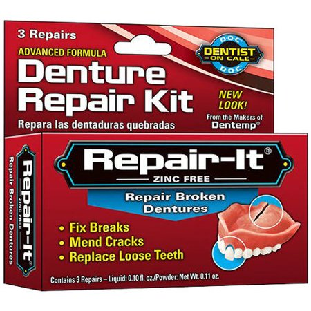 Dentist On Call Repair-It Advanced Denture Repair Kit, 3 Count