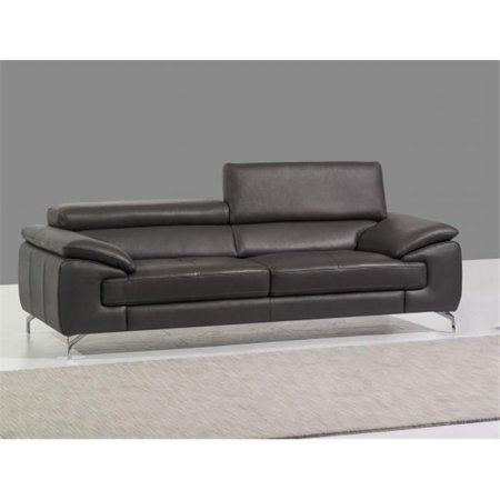 JandM Furniture  Italian Leather Sofa - Grey