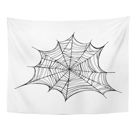 Mascaras Para Halloween 2019 (REFRED Cobweb Spiderweb Trap for Halloween Line Drawing Mascara Gothic Tattoo Abstract Wall Art Hanging Tapestry Home Decor for Living Room Bedroom Dorm 51x60)