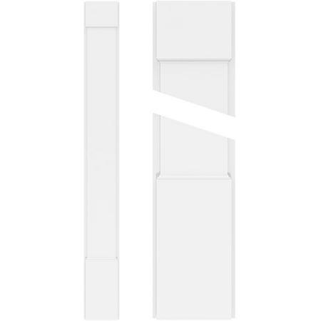 5 W x 90 H x 2 P Smooth PVC Pilaster w Standard Capital Base Pair