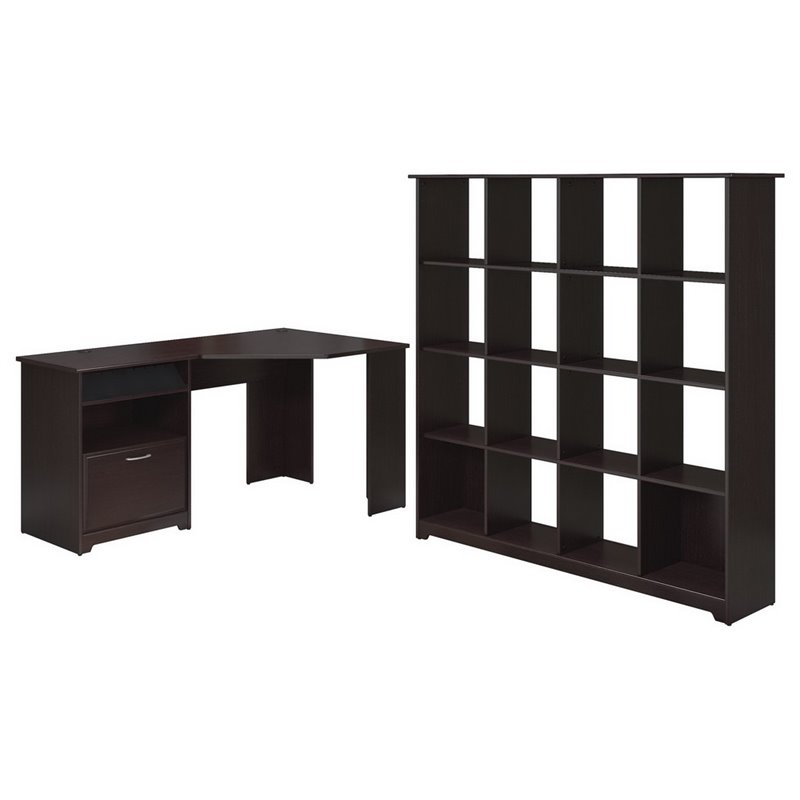 Bush Cabot 2 Piece Office Set in Espresso Oak - image 5 of 5