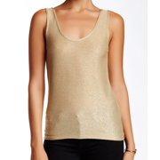 Olivia Sky NEW Gold Women's Size Large L Sparkle Scoop-Neck Tank Blouse $48 DEAL