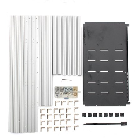 14 GPU Mining Rig Aluminum Case Open Air Computer Crypto Coin Frame Silver with 20 fans (Optional without fan) - image 5 de 6