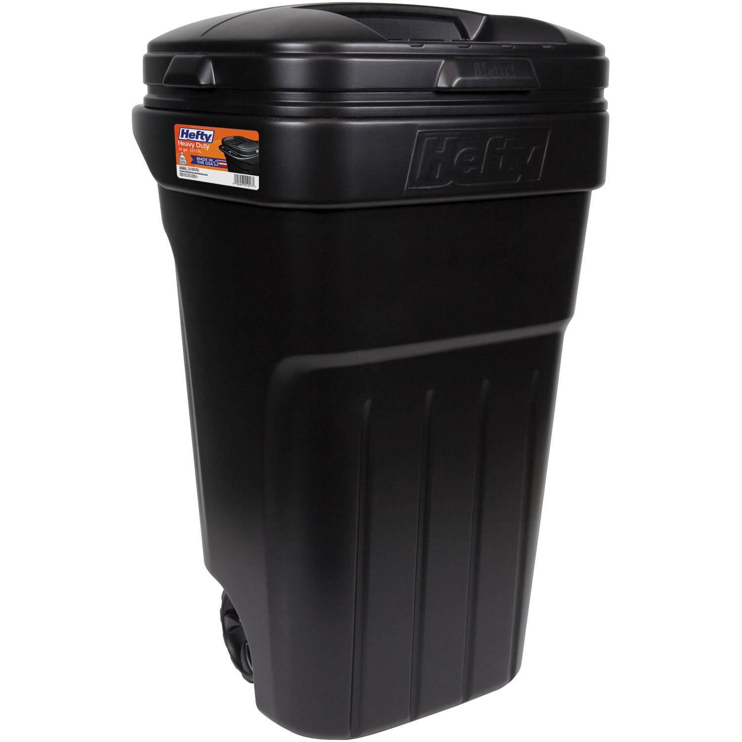 ecoark 45 gallon wheeled trash can - walmart