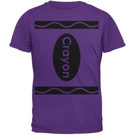 Halloween Crayon Costume Purple Adult T-Shirt](Unique Halloween Shirts)