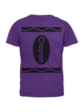 66175215b22fa1 Product Image Halloween Crayon Costume Purple Adult T-Shirt