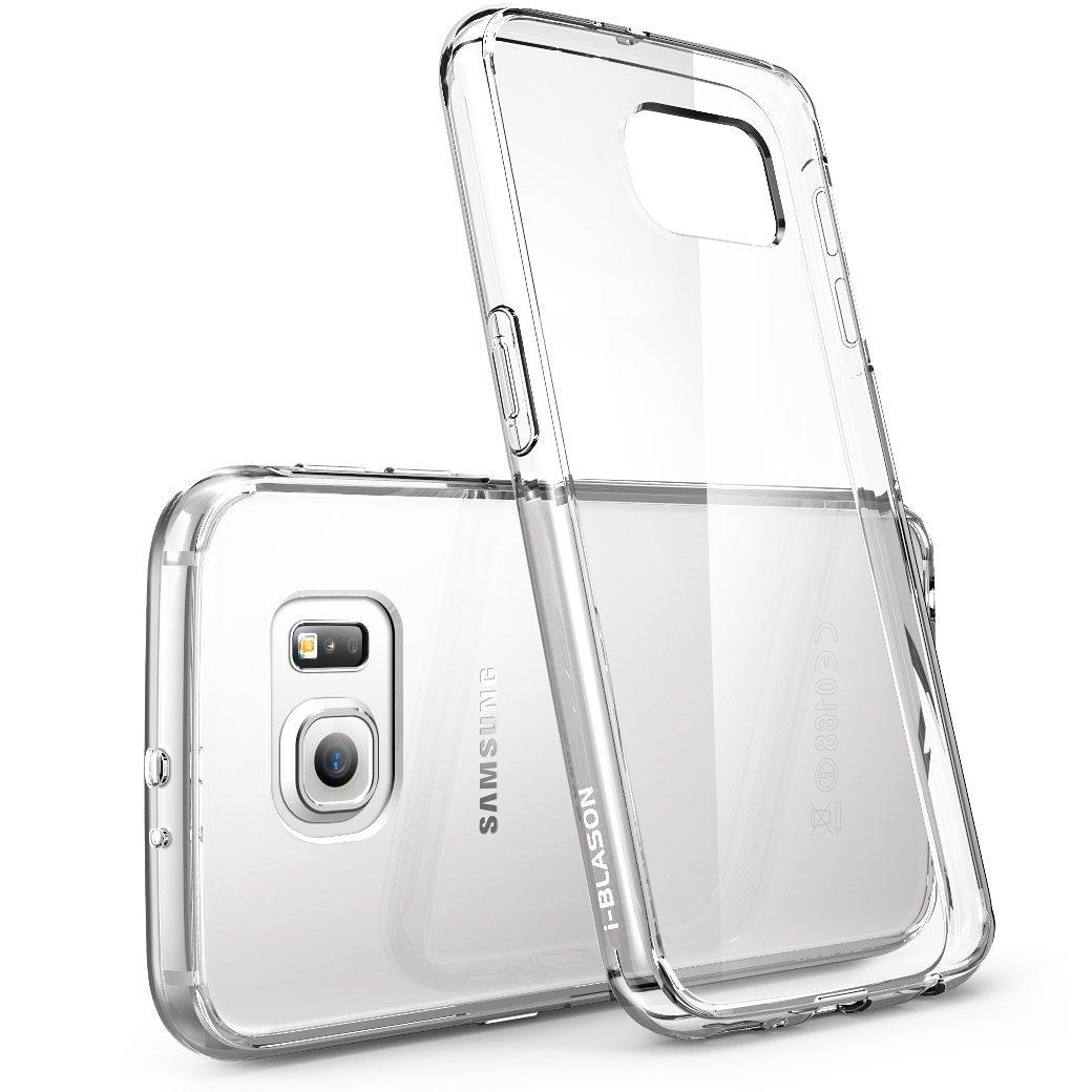 Galaxy S6 Case, Scratch Resistant,  i-Blason Clear,Halo Series, Samsung Galaxy S6 Hybrid Bumper Case Cover-Clear